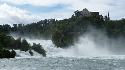 Rhine Falls with a current volume of 875 m3 per second!
