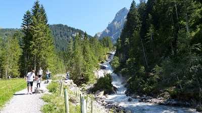 Bottom of the Simmen Falls, end of the tour.