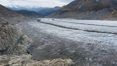 Greater Aletsch Glacier, the largest Glacier of the Alps