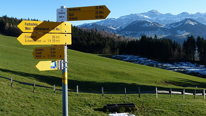 About halfway back down from the ridge to Schönengrund
