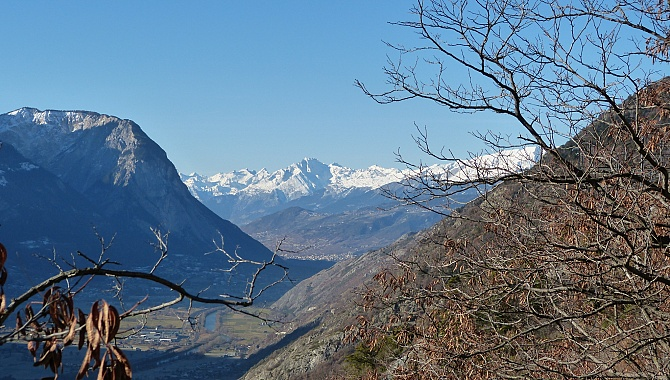 View into the Rhone Valley