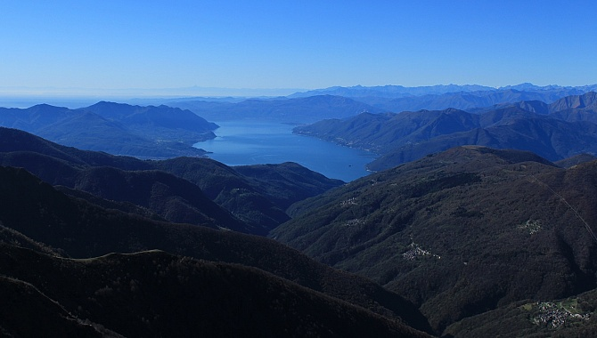 Lago Maggiore, Valle Veddesca. View South toward Italy