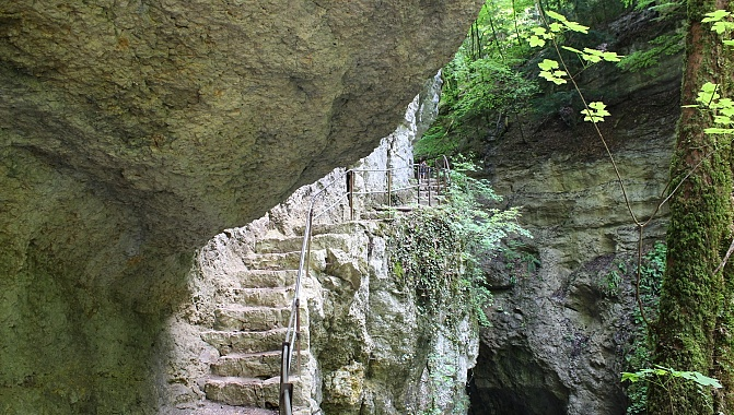 In the second Areuse Gorge, nearer to Boudry