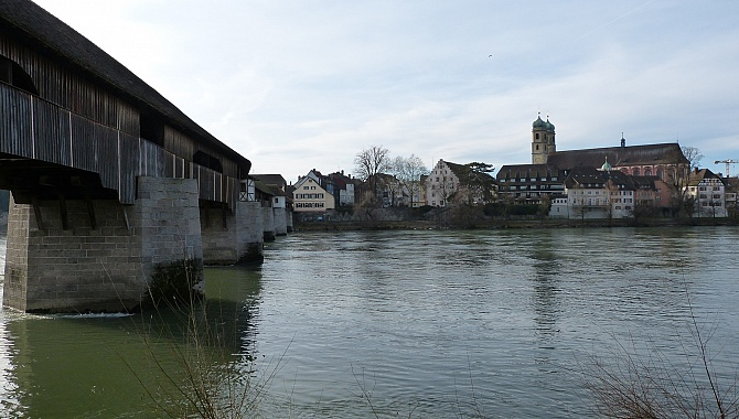 The Old Rhine Bridge between Stein AG and Bad Säckingen