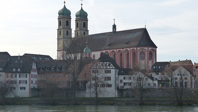 Fridolinsmünster Cathedral in Bad Säckingen, Germany