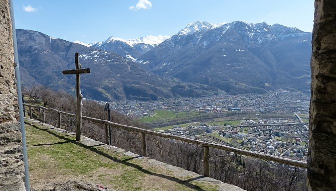 View across Bellinzona