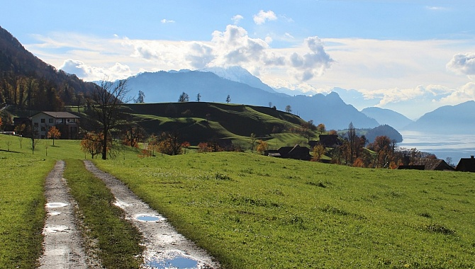 On the Rigi Lehnenweg