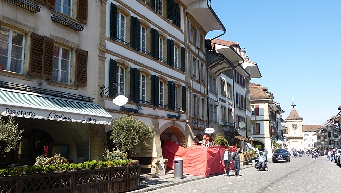 Medieval village of Murten / Morat.