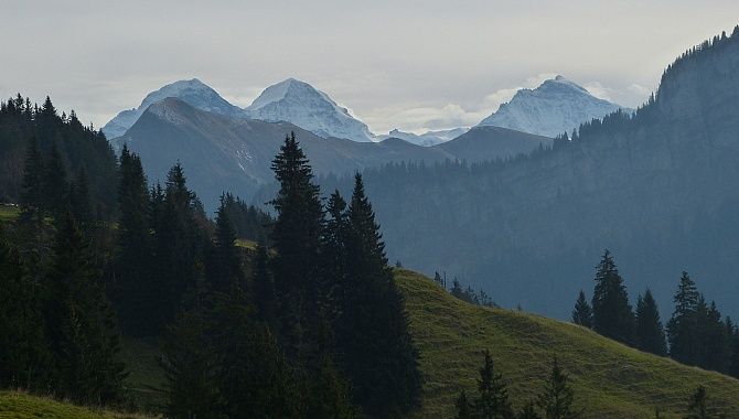 Glimpses of the Bernese Alps