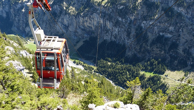 Sittlisalp cable car