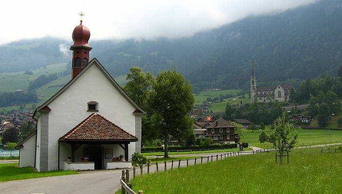St. Beat Chapel in Obsee near Lungern.