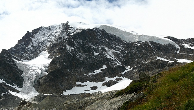 Piz Morteratsch (Mount Morteratsch) as seen from Chamanna Bova.