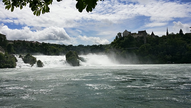 The magnificent Rhine Falls.