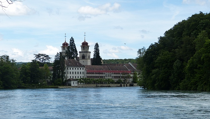 The former Benedictine Monastery on the Island at Rheinau.