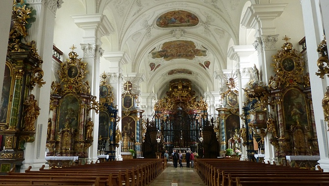 Magnificent Baroque Architecture in the Church at Rheinau.
