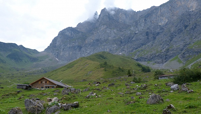 In the Gitschi Valley it is wild and raw, at the base of Mount Gitschen.