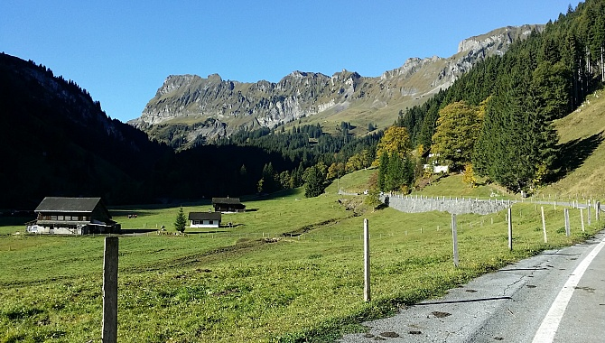 Start of hike at Richisau, looking in the direction of the Pragel Pass