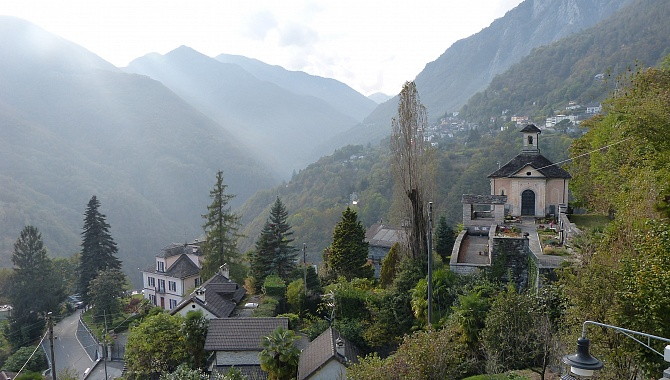 View from Church square in Auressio