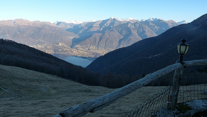 View to Lago Maggiore and the Verzasca Valley from Alpe di Neggia