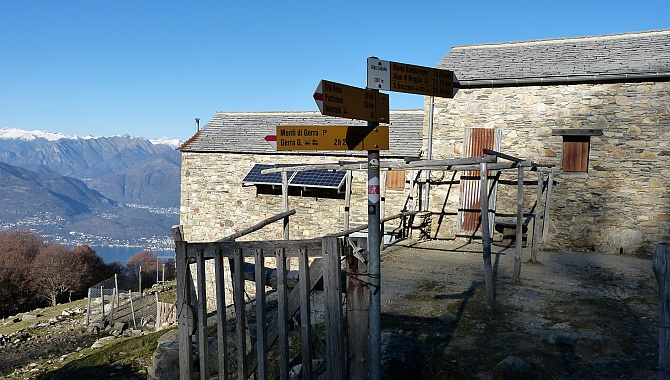 Alpe Cedullo, closed at this time of year.