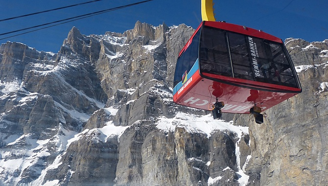Cable Car from Leukerbad to Gemmi Pass