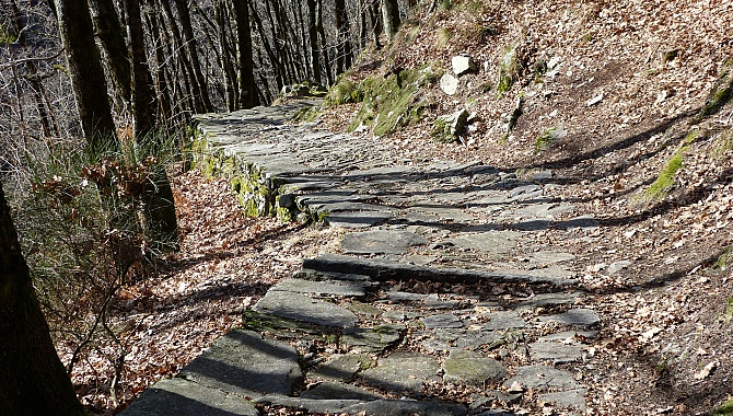 These stone-paved trails are hundreds of years old.