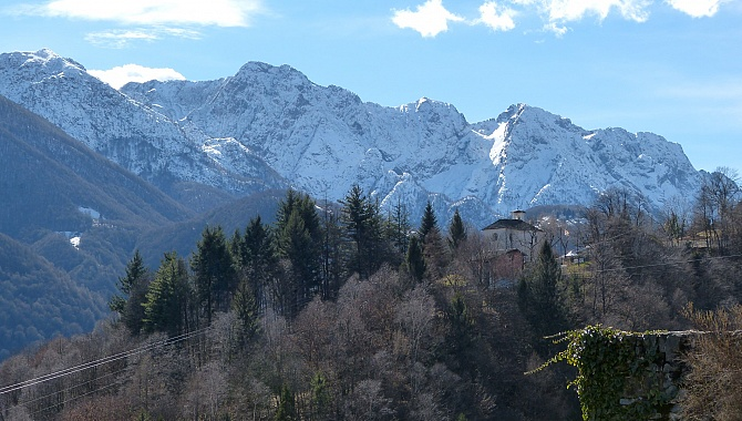 In Pila, these are the mountains of the Centovalli