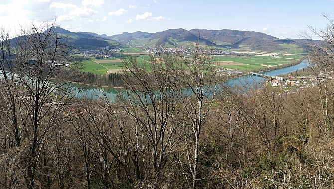 Aargau panorama above the Aar River