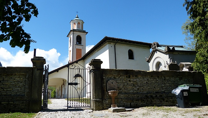 San Silvestro Church at the North side of Meride.