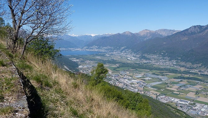 View West for most of the trail from Cima di Dentro to Cima di Medeglia.
