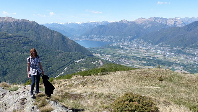 View to Locarno from Cima di Medeglia