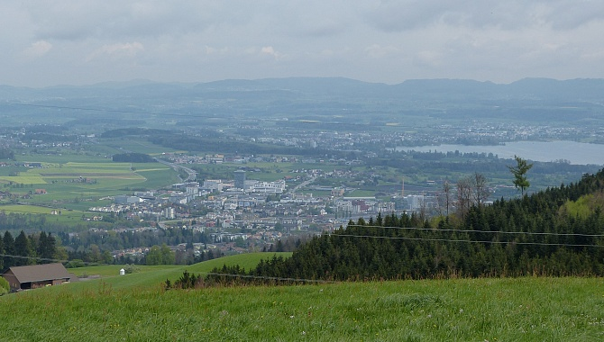View NE to Rotkreuz and Zug