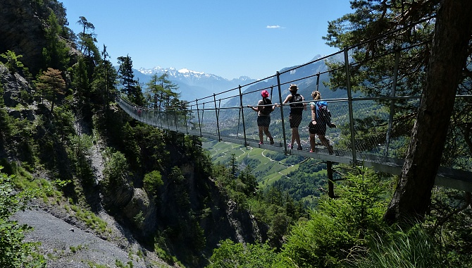 There are four suspension bridges along the trail