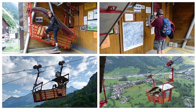 Private cablecar (max.3 people) from Dägerslohn to Chilcherbergen. Have to phone operator.