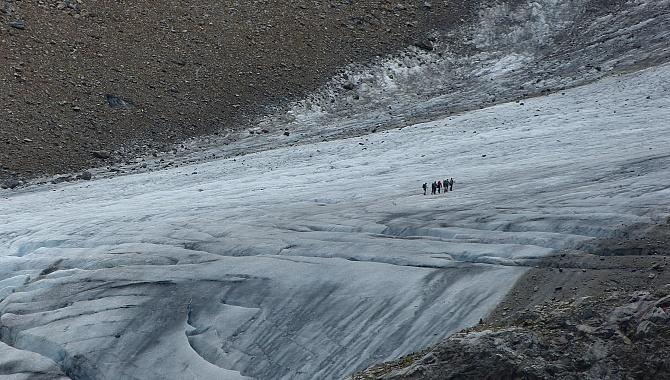 You might even see people walking on the Stein Glacier