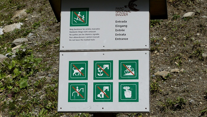 The rules for walking in the park are very strict.