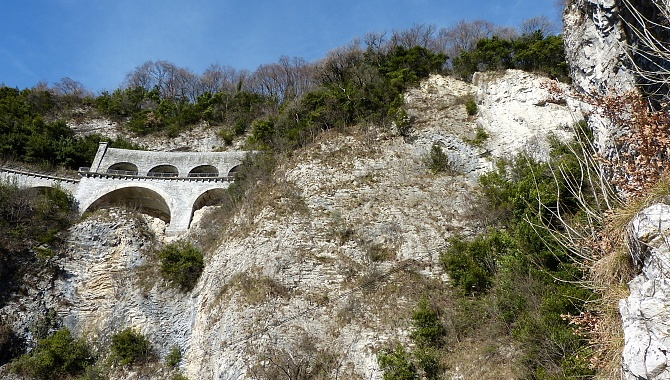 Here high above is the roadway from Lugano to the Italian border.