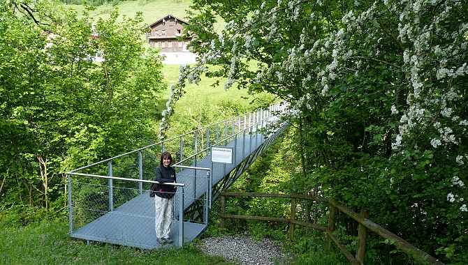 Bridge over the Grüeblital Gorge