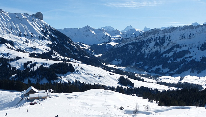 View over the Bernese Alps from Marbachegg
