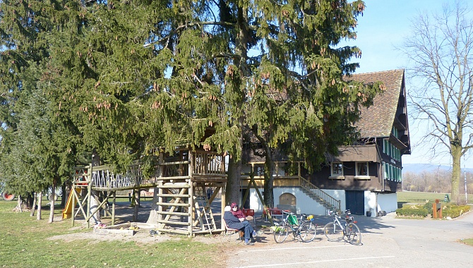 The Freimann Farm also offers a garden restaurant with playground