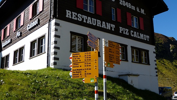 Restaurant at the Oberalp Pass