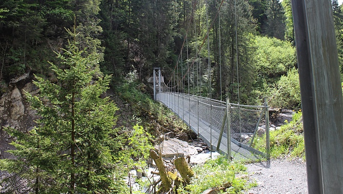 One of three suspension bridges in the Aa Gorge