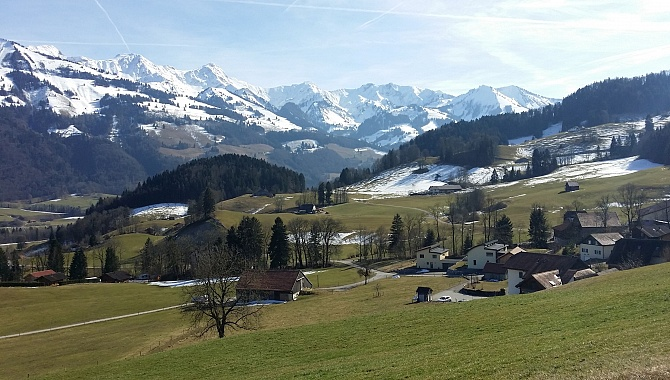 The alpine foothills of Canton Fribourg