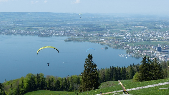 Paragliders like to fly here and it is fun to watch.