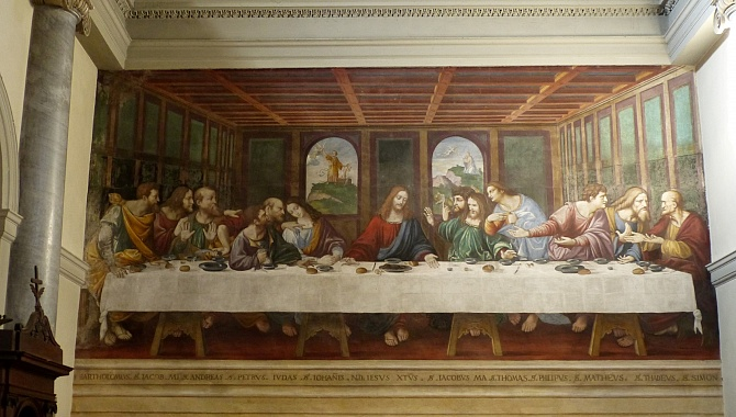 The most famous copy of the Last Supper is located in Ponte Capriasca