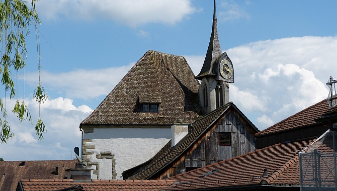 Gothic Church in Greifensee, built in 1340, Renovated 1978