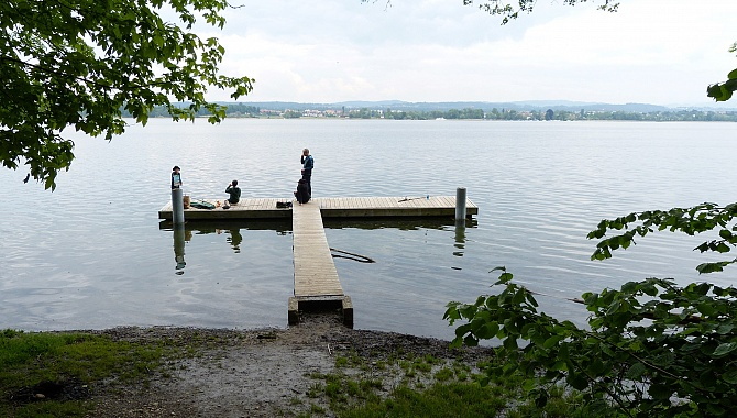 Several wharves offer access to the lake for swimming