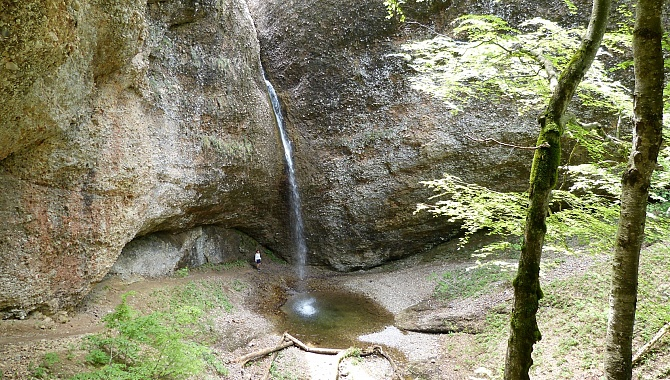 The waterfall at Ofenloch