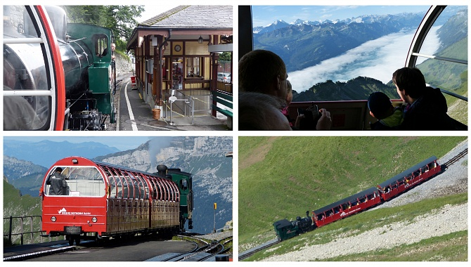 Brienz-Rothorn Steam Train, oldest cogwheel steam train in Switzerland