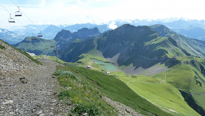 On the trail from Mt. Brienzer Rothorn to Eiseesattel